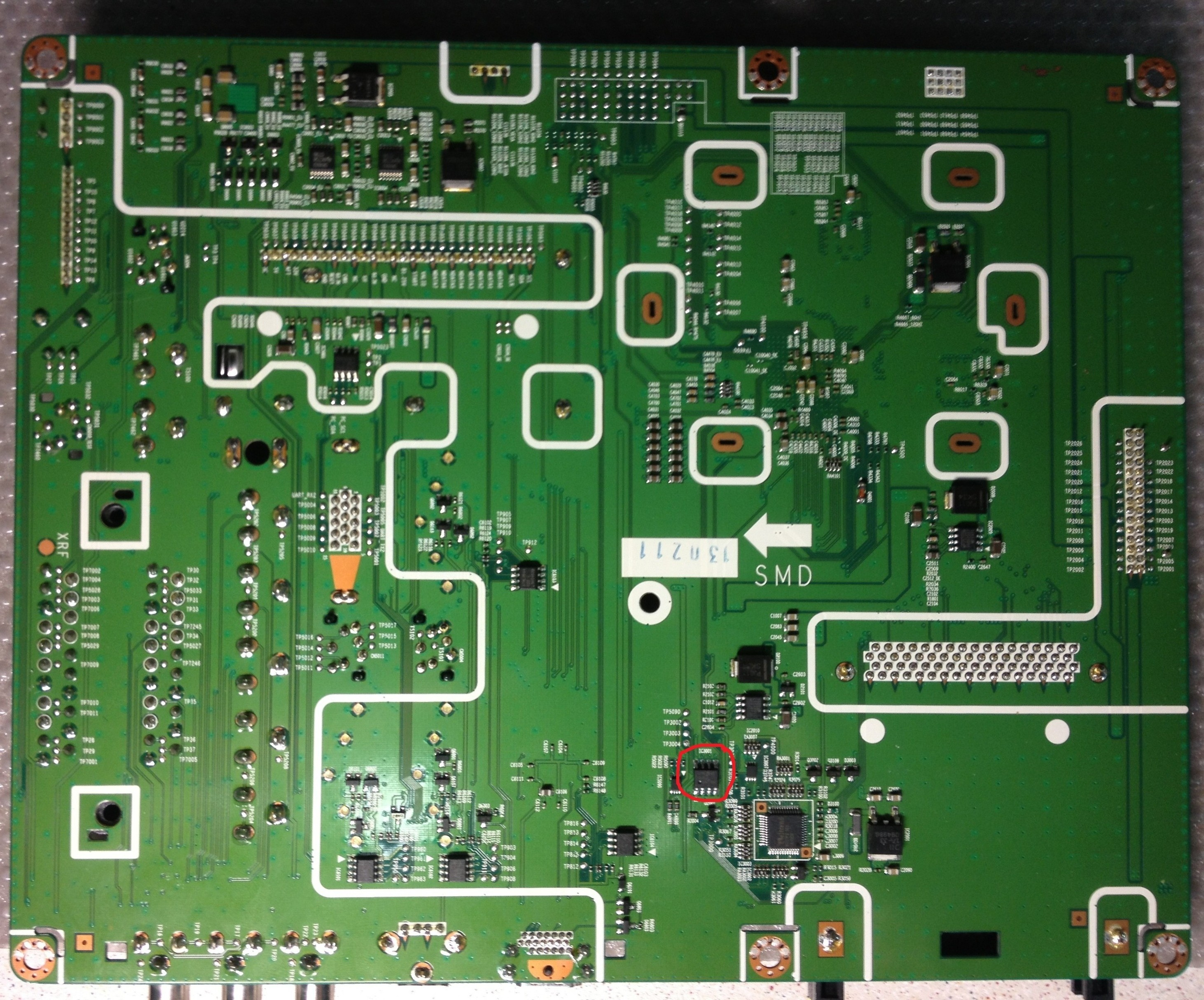 B550 mainboarboard back side